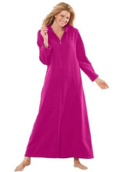 af365411c1 Dreams And Company Plus Size Long Ultra-Soft Fleece Hoodie Robe,Lower price  available on select options