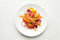 shaved carrot salad ~ beautiful. And probably pretty darn tasty too..