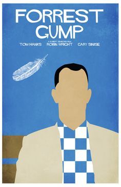 Forrest Gump 11 x 17 Minimalist Film Poster Best Movie Posters, Minimal Movie Posters, Movie Poster Art, Films Cinema, Cinema Posters, Love Movie, Movie Tv, Schindlers Liste, Non Plus Ultra