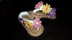 Crochet-Baby-sandals-flip-flop-with-bow-0-3-m-hand-made-newborn-infant