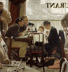 Original Norman Rockwell Paintings | Norman Rockwell Saying Grace - Click to Buy