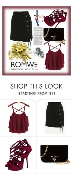 """Bez naslova #7"" by lili-876 ❤ liked on Polyvore featuring WithChic, Giuseppe Zanotti and Prada"