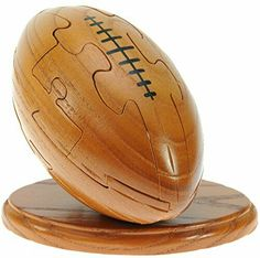 Rugby wood brain teaser puzzle sz med wooden Football