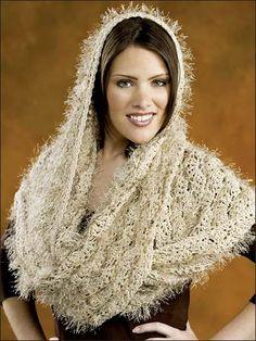 Shells free infinity crochet shawl pattern