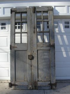 architectural salvage antique double doors industrial. Would be an awesome wall/prop