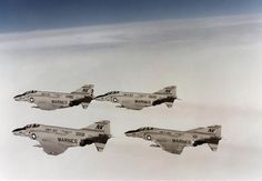 F-4B Phantom. II / F-4's of Marine Fighter Attack Squadron (VMFA) 323 off the carrier Coral Sea (CV 43) on November 7, 1979