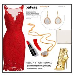 """""""batyas"""" by elly-852 ❤ liked on Polyvore featuring ML Monique Lhuillier, Giuseppe Zanotti, Tory Burch and batyas"""