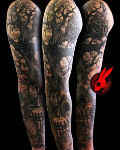 Reaper tree Graveyard Sleeve by Jackie Rabbit by jackierabbit12 on deviantART