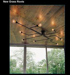 New grass roots - lovely ceiling zig zag lighting