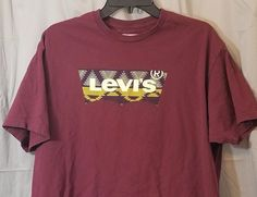Levis Mens Shirt XL Red Short Sleeves Levi Strauss & Co Levi's #Levis #BasicTee