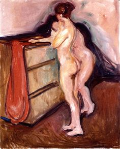 Edvard Munch - Two Nudes Standing by a Chest of Drawers, 1902-1903