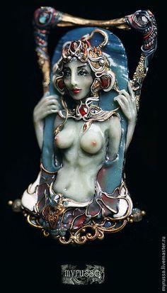 "Кулон ""Ghoul"" (полимерная глина). Handmade."