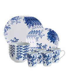 Look what I found on #zulily! Blue Tatnall Street 16-Piece Dinnerware Set #zulilyfinds