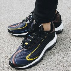 2657a49361 Nike Air Max Deluxe | Black/Midnight Navy/Silver | Womens Trainers [AJ7831