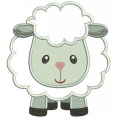 Cute Little Sheep Applique Machine Embroidery Digitized Design Pattern Learn Embroidery, Machine Embroidery Applique, Hand Embroidery Patterns, Applique Patterns, Applique Designs, Quilt Patterns, Applique Tutorial, Embroidery Art, Creeper Minecraft