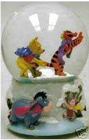 Disney Pooh cracking the whip snowglobe