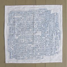 """Image of Set of FOUR """"Topics of Conversation"""" Napkins by Tucker Nichols for Pop-Up Magazine"""