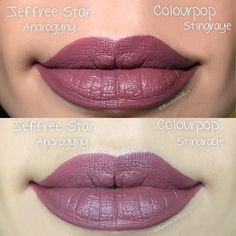 The #1 dupe for Jeffree Star Androgyny Velour Liquid Lipstick is Colourpop StingRAYE Ultra Matte. See dupe reviews and more top dupes for Jeffree Star Androgyny Velour Liquid Lipstick!