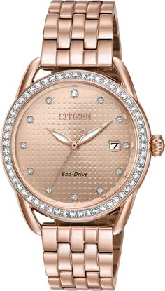 online shopping for Citizen Ladies' Drive Citizen LTR Rose Gold-Tone Stainless Steel Watch from top store. See new offer for Citizen Ladies' Drive Citizen LTR Rose Gold-Tone Stainless Steel Watch Stainless Steel Watch, Stainless Steel Bracelet, Pink And Gold, Rose Gold, Citizen Eco, Pink Tone, Watch Bands, Gold Watch, Lady