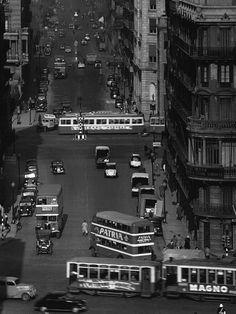 Spain. Balmes Street, Barcelona, 1953 // Photo: Francesc Catala Roca
