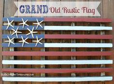 Grand Old Rustic Flag MySalvagedTreasures.com