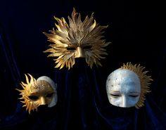 Celestial Trio by TheArtOfTheMask on Etsy, $665.00