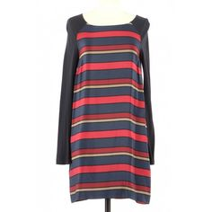 Pre-Owned Maje Multicolour Silk Dress Mini Robes, Maje, The Chic, Feminine Style, Dress Outfits, Dresses, World Of Fashion, Silk Dress, Parisian