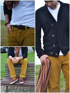 Moda masculina: corduroy trousers. Más detalles del look en landoigelo.com