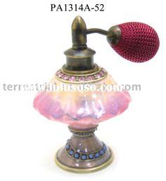 Rhinestone decorative glass perfume bottle for woman cosmetic perfume bottles custom made perfume at