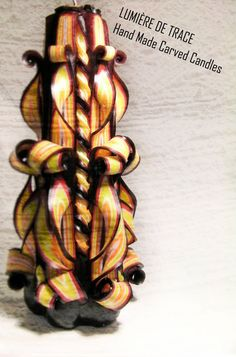 LARGE CARVED CANDLE by LumiereDeTrace on Etsy