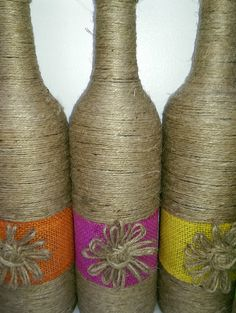 Jute Wrapped Bottles by Allimhandmade on Etsy
