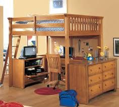 King or Queen size loft beds allow for much more room for your desk area.