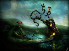 2010 Evening illustration by Alexander Jansson #art #illustration #fantasy
