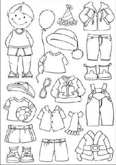 Ec0104 Clear stamp aankleed jongen - Eline's Aankleedpopjes - Marianne Design Clear stamps - Hobbynu.nl: