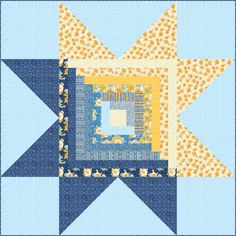 blue and yellow quilts Woman Waistcoats custom made woman's waistcoat Big Block Quilts, Star Quilt Blocks, Star Quilt Patterns, Star Quilts, Easy Quilts, Canvas Patterns, Quilting Tutorials, Quilting Projects, Quilting Designs