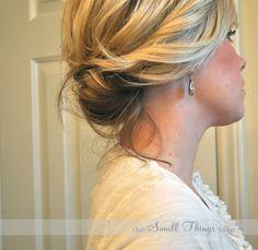Updo for medium length hair.