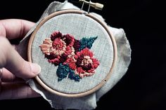 For the Makers: Fitzgerald Floral Embroidery Pattern and Instructions
