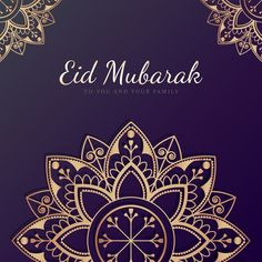 Eid Mubarak card with mandala pattern background   premium image by rawpixel.com / Sasi Carte Eid Mubarak, Eid Mubarak Card, Eid Mubarak Greetings, Tech Background, Geometric Background, Background Patterns, Ramadan Background, Vector Background, Triangle Pattern