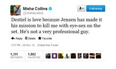 Some actors have no idea about shipping and stuff… then there's Misha
