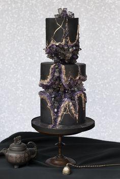 Magical dark sugar crystal cake. - Imgur