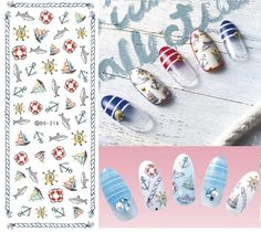 DS208 DIY Nail Design Water Transfer Nails Art Sticker Color Ocean Fishes Nail Wraps Sticker Watermark Fingernails Decals-in Stickers & Decals from Beauty & Health on Aliexpress.com | Alibaba Group