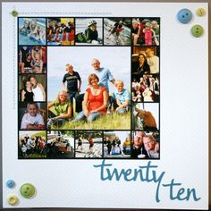 New Year's scrapbook layout - how simple and perfect.