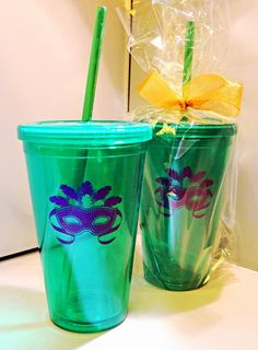 Mardi Gras Mask Insulated Tumbler at Party Cup Express