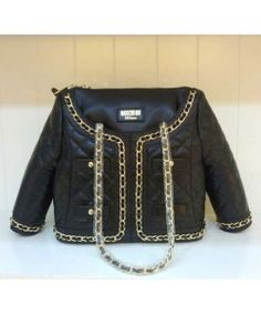 Moschino Jacket Women Medium Leather Tote Black