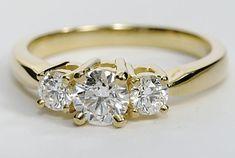 Anillo de compromiso 3 piedras (diamantes)