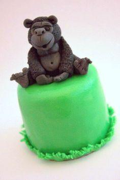 Adorable Buttercream Bakery Mini Gorilla Cake by The Extraordinary Art of Cake