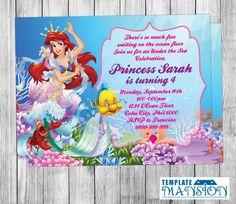 Little Mermaid Invitation Little Mermaid By TemplateMansion - Party invitation template: little mermaid party invitations templates