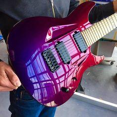 Purple/Red Chameleon from @aristidesguitars More