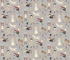 Buy Heroines of history custom fabric, wallpaper and home accessories by katherine_quinn on Spoonflower Stroller Blanket, Security Blanket, Fabric Decor, Heroines, Kids Decor, Custom Fabric, Spoonflower, Print Patterns, Gift Wrapping