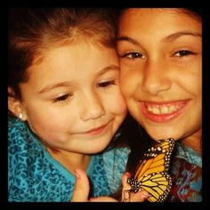 I've raised Monarch Butterflies for 14 years to help this Endangered Species while educating students/children.  Shown here are my cousins who raised this butterfly from a caterpillar and released it into the wild.